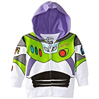 Disney Little Boys 'Buzz Lightyear Hoody - Niño pequeño, blanco, 2T