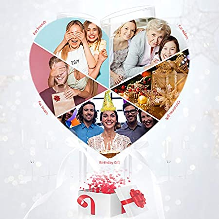 Copas de Vino, Juego de 6 Copas de Vino Tinto(Capacidad: 50 cl/500 ml), Copas de Vino Blanco con un Tallo Largo para una cumpleaños, Aniversarios, Navidad 550ML