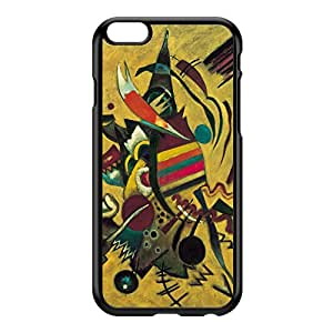 Points by Kandinsky Black Hard Plastic Case for iPhone 6 Plus by Painting Masterpieces + FREE Crystal Clear Screen Protector