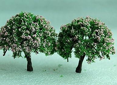 SecretRain Miniature Garden Fairy Ornament Flower Pot Plant Pot Home Decor 2pcs Tree Set by SecretRain Ltd