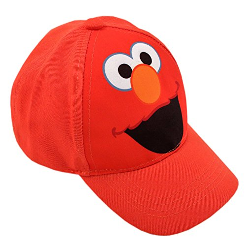 Elmo Cap - Sesame Street Toddler Boys Elmo Character Cotton Baseball Cap,