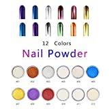 12 Boxes Chunky Mirror Chrome Nail Powder Laser Nail Art Decoration Rainbow ✮ COSMETIC ✮ Festival Face Body Hair Nails