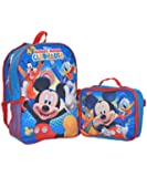 "Mickey Mouse ""Clubhouse Fun"" Backpack with Lunchbox - blue/multi, one size"