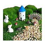 CULER 12Pcs Miniature Fairy Garden Accessories Ornament Kits for DIY Dollhouse Décor (Big Rabbits Kits) For Sale