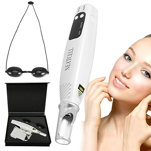 Freckle Removal Machine, Handheld Picosecond Beauty Care Pen Tattoo Scar Mole Dark Spot Skin Pigment Remover Device With Eyeglass