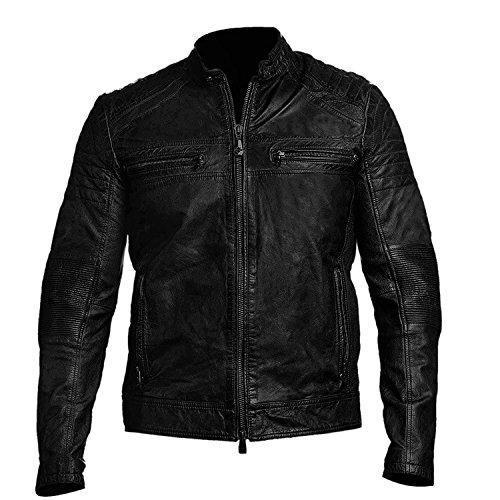 Vintage Style Motorcycle Jacket - 4