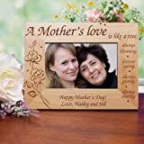 GiftsForYouNow A Mother's Love Engraved Frame, Wood, Holds a 3½'' x 5'' or 4'' x 6'' Photo