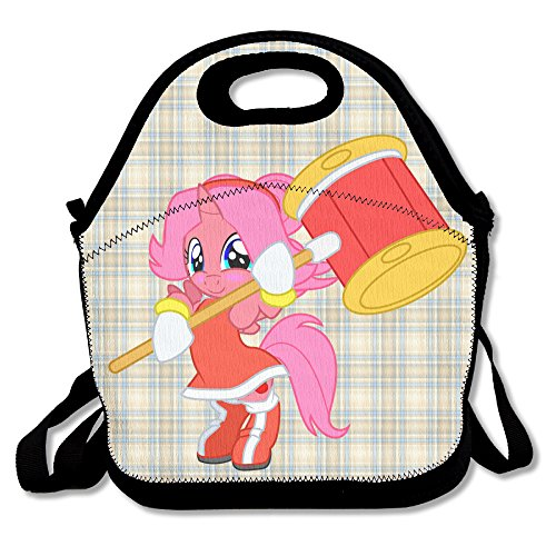 Oery Christmas Hippocampus Bento Lunch Bag Portable Cooler Tote (Colt Mascot Costume)