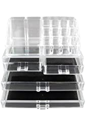 Vencer Standard-size Jewelry & Cosmetic/makeup Organizer Set (1 Top 4 Drawers)
