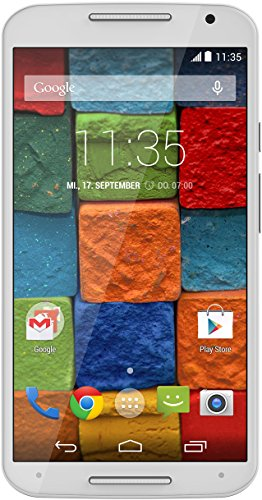 Motorola Moto X 2. Generation Smartphone (13,2 cm (5,2 Zoll) Full HD-Display, 13 Megapixel Kamera, Quad-Core Prozessor, 32GB interner Speicher, Android KitKat 4.4.4) weiß