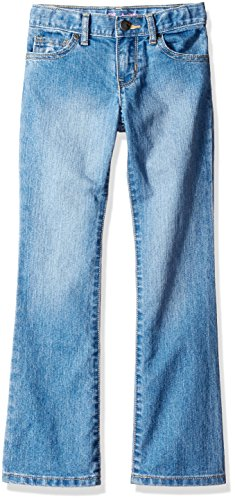 The Children's Place Girls Plus Size' Bootcut Jeans, Medium Worn Stone 24827, 14 -