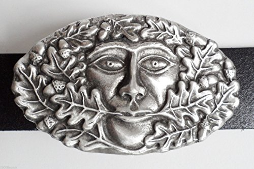 Green Man Belt Buckle - Hand Made in Pewter