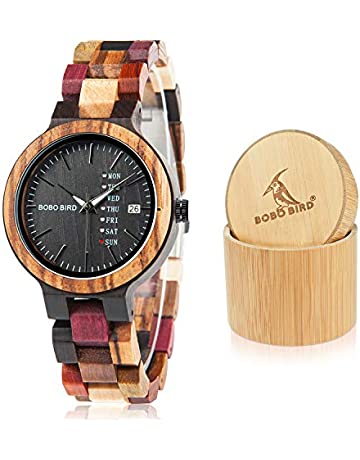 6faf461cd10 BOBO BIRD Women Wood Watches Colorful Wood WristWatches Week   Date Display  Multifunction Handmade Quartz Watch