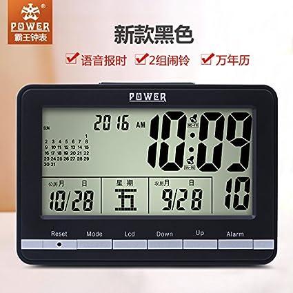 y-hui Ba Wang Calendario con luz nocturna Temperatura silenziato de retraso la despertador multifunción