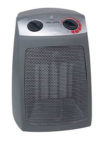 Nikko Heater (UL LISTED) - 5200 BTU - Auto Temp Control - Over Heat Protection - Tip Over Protection - Dust Filter - Rear Cool to Touch