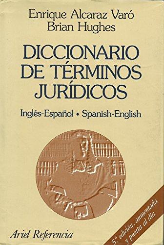 Diccionario De Terminos Juridicos: Ingles-Espanol Spanish-English