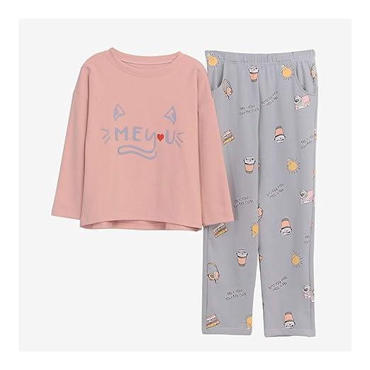 d3175935f HAOLIEQUAN Inicio Ropa Mujer Pijamas 2 Piezas Otoño Invierno Talla Grande  Conjunto De Pijamas Mujer Ropa De Dormir Kawaii Traje De Noche Ropa De  Dormir: ...