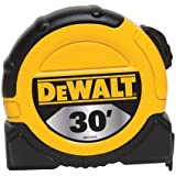 DEWALT DWHT33374L 1 1/8-Inch x 30-Foot Short Tape, 10-Foot Stand Out