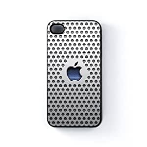 White Apple Stealth Carcasa Protectora Snap-On en Plastico Negro para Apple® iPhone 4 / 4s de Sirius B + Se incluye un protector de pantalla transparente GRATIS