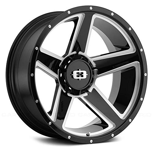Vision Offroad Empire Сustom Wheel - 390 Empire Gloss Black with Milled Spokes 16
