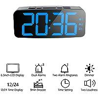 ORSERA Reloj Despertador Digital con Alarma Dual Snooze