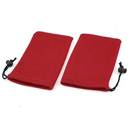 Amazon.com: eDealMax 2 Piezas Rojo Gorras de MP3, MP4 del teléfono celular del móvil del bolso de la Bolsa: Electronics