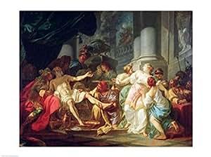 Jacques-Louis David – La muerte de Séneca Artistica di Stampa (60,96 x 45,72 cm)