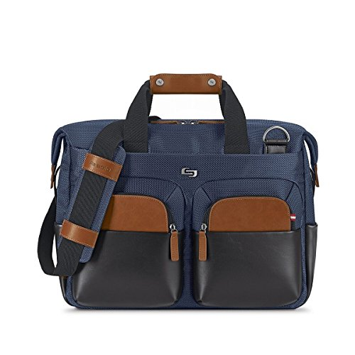 Solo Sag Harbor 15.6 Laptop Blue Briefcase, Navy by SOLO