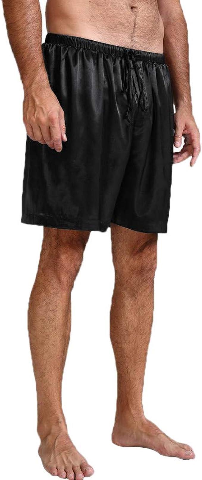 Geilisungren Hombres Salón Pantalones Cortos Jersey Elástico ...