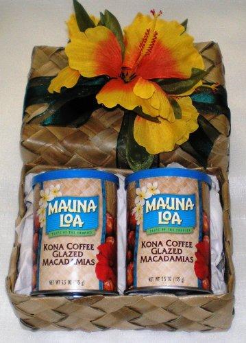 Mauna-Loa-Kona-Coffee-Glazed-Macadamia-Nuts-Lauhala-Gift-Basket