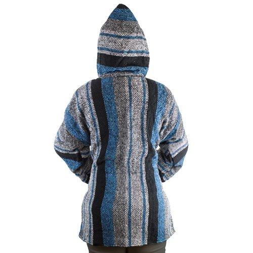 blu nero Bianco Felpa Unisex Jerga Poncho 7wqxw1XIf