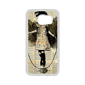 Unique draw Loui Jover Pen and Ink drawing Hard Plastic phone Case Cover For Samsung Galaxy S6 ZDI117037