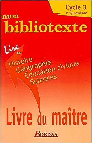 Mon Bibliotexte Lire En Histoire Geographie Education