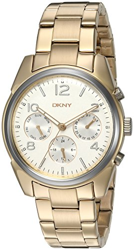 DKNY Women's 'Crosby' Quartz Stainless Steel Casual Gold-Toned Watch (Model: NY2471)