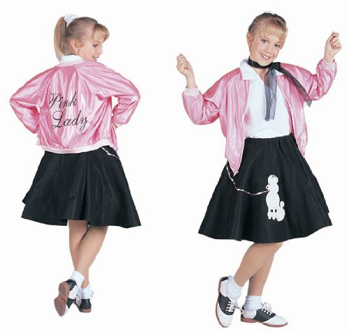 RG Costumes 50's Pink Lady Jacket, Child Large/Size 12-14