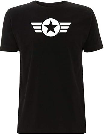 Time 4 Tee US Army Star Wings Camiseta WW2 militar GI USA Bonnet de la Fuerza Aérea de Estados Unidos: Amazon.es: Ropa y accesorios