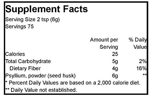Psyllium Husk Powder Organic - 1 lb,(Frontier)