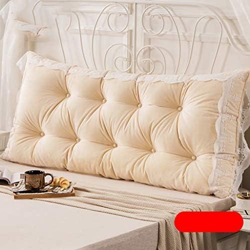 ベッドサイド大クッション - レースウエストクッション枕頭背もたれソフトバッグホームベッド戻るクッションがウエストヘッドボードウォッシャブルを守ります (Color : D, Size : 150*75cm)