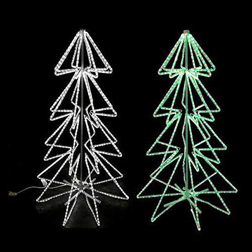 - 2 LED Rope Light Christmas Tree Motifs ((1X) Cool White (1X) Red & Green)