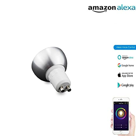 Bombilla LED Inteligente 5W GU5.3 RGB Blanco RGBW Cambio De Color Regulable WiFi Activar