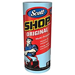 Whether you own an automotive shop (painting, detailing, or cleaning), are a D.I.Y. weekend warrior or are simply cleaning the garage, Scott Shop Towels Original (Blue) in standard rolls are a must in your list of supplies. These utility shop...