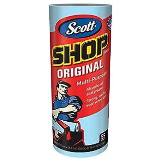 Scott Shop Towels Original (75147), Blue, 55 Sheets / Standard Roll, 12 Rolls / Case, 660 Towels / Case