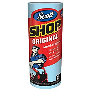 Scott Shop Towels Original (75147), Blue, 55 Sheets/Standard Roll, 12 Rolls/Case, 660 Towels/Case (B0035BTQ06) | Amazon Products