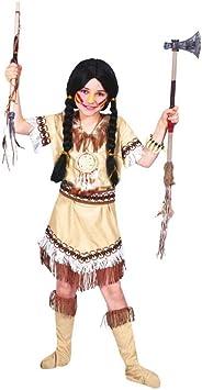 Disfraz de india flecos niña 4-6 años (104/116): Amazon.es ...