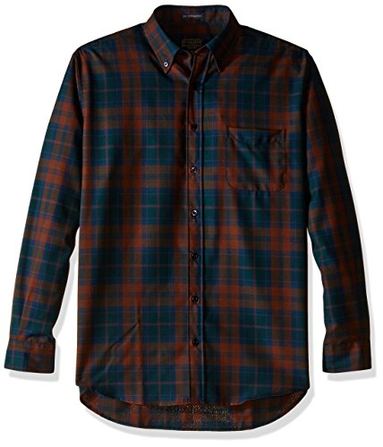 Pendleton Men's Tall Size Big Sir Shirt, Brown/Purple Plaid, LG