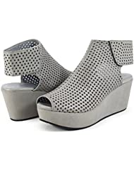 Chocolat Blu Womens Wing Leather Sandal