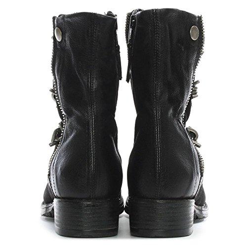 Leather Barbed Biker Boots Black Leather Mola Daniel Black 7PwCxRqZ