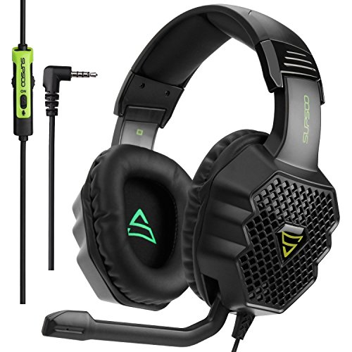 PS4 Gaming Headset SUPSOO G811Over-Ear 3.5mm Stereo Bass Headphone with Mic for PS4/New Xbox one/PC