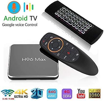 Android 8.1 H96 MAX-X2 VOICE CONTROL S905X2 Wifi 4GB 64GB Bluetooth 4K TV Box