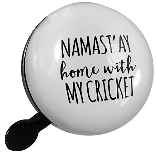 Small Bike Bell Namast'ay Home With My Cricket Simple Sayings - NEONBLOND by NEONBLOND